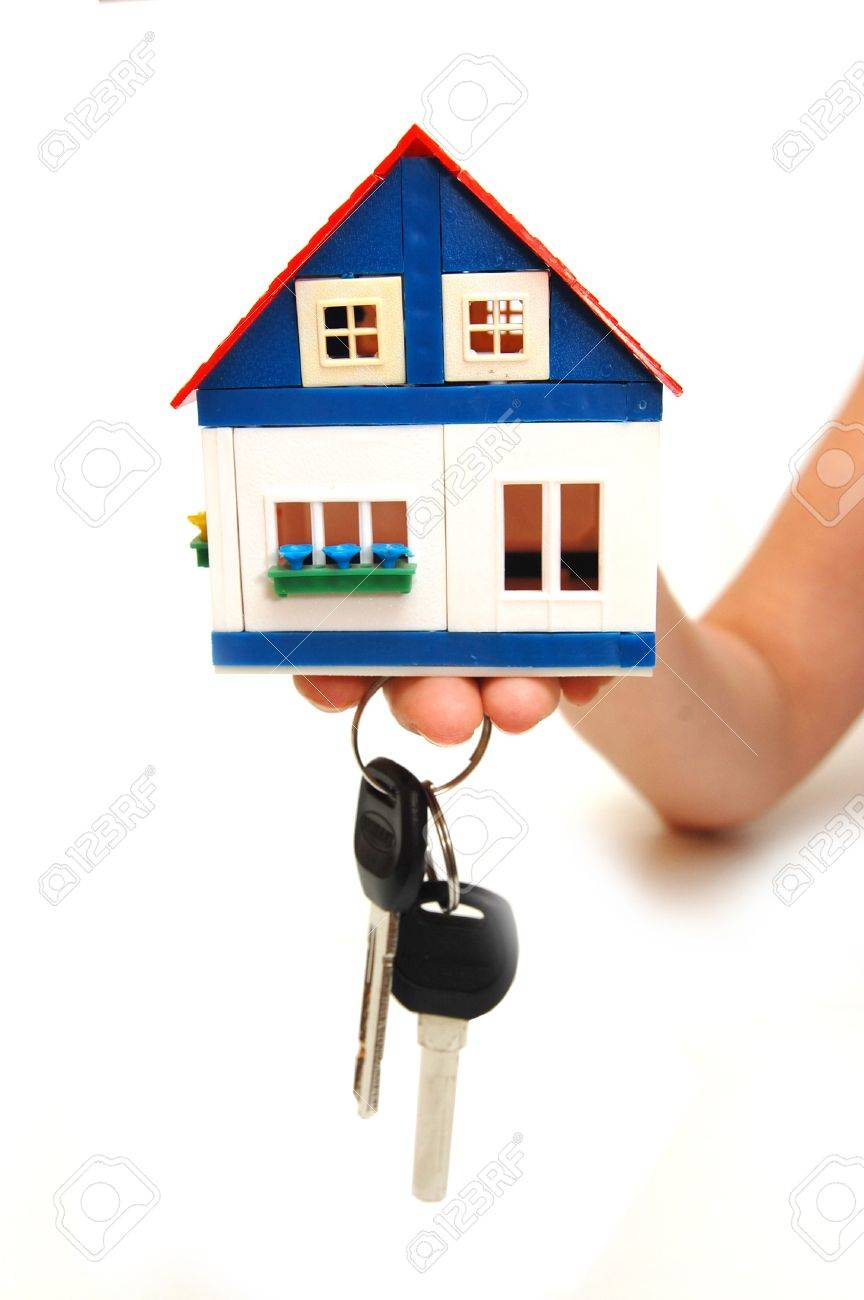 Concept image of a hand holding house keys Stock Photo - 5054658