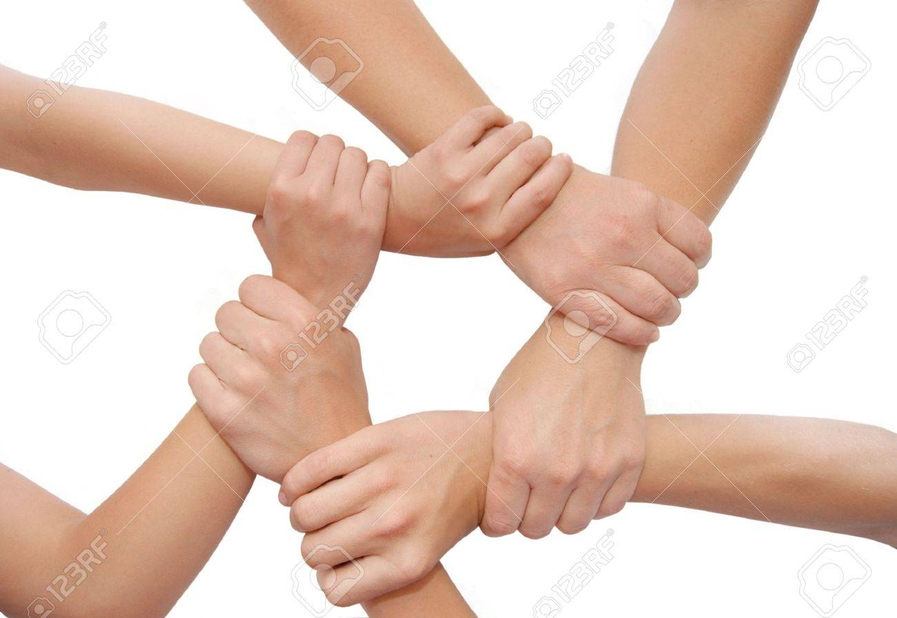 United hands isolated on white background Standard-Bild - 5191728