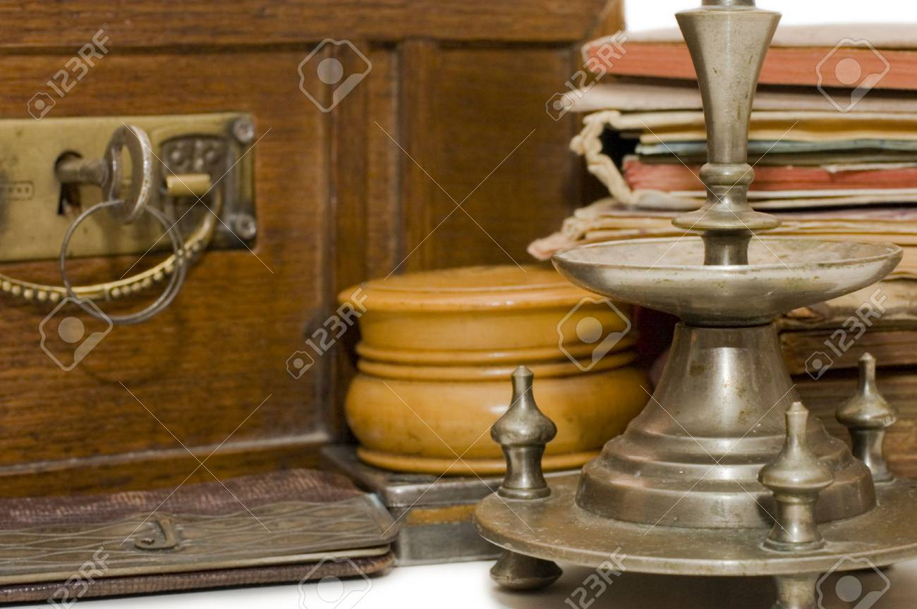 Ancient chest and different old things Stock Photo - 6086249