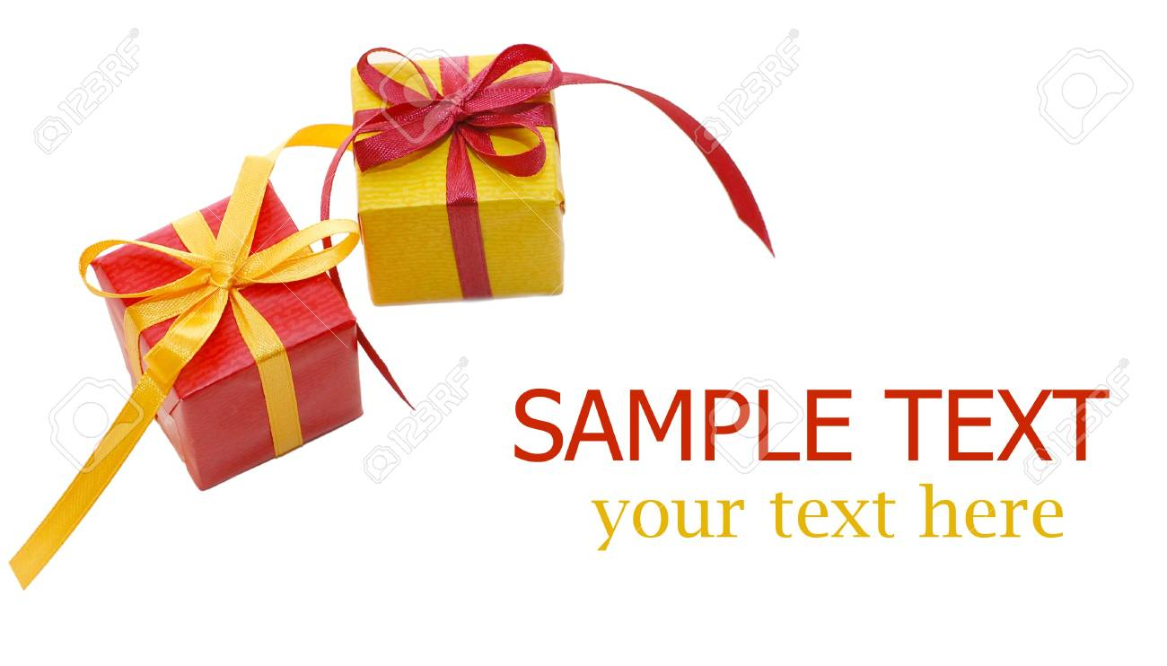 Boxes with gifts isolated on white background Stock Photo - 6263026