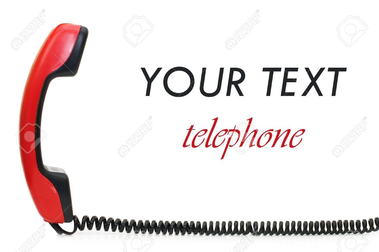 Retro telephone receiver  isolated on white background Stock Photo - 6818149