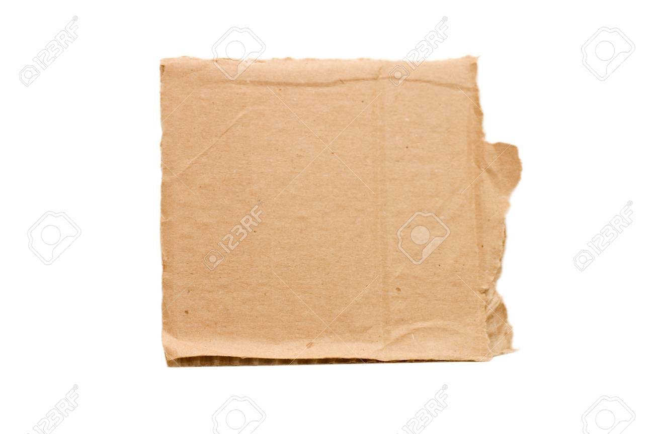 Cardboard isolated on white background Stock Photo - 7314477