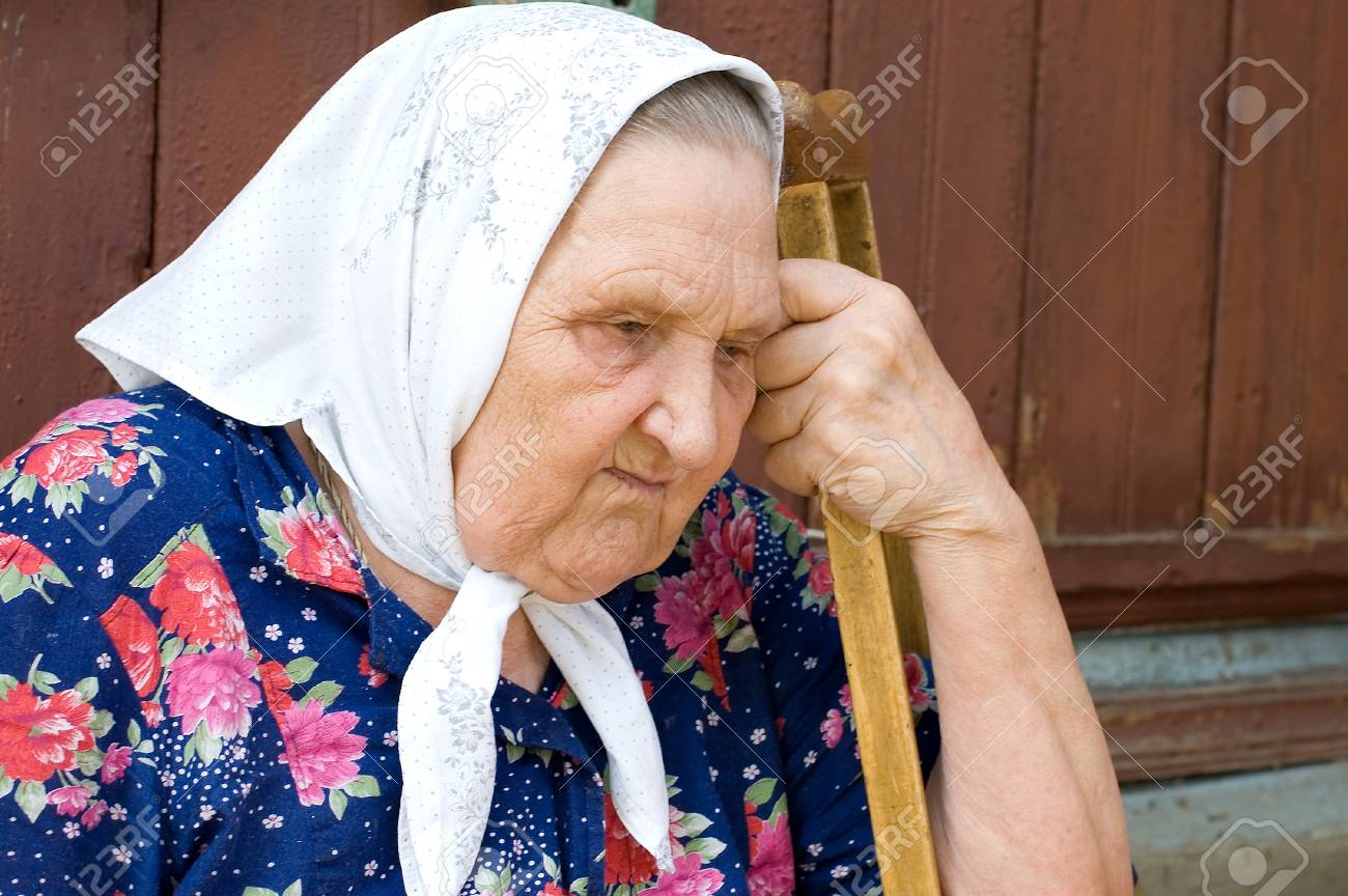 Portrait of the old woman Stock Photo - 7496838
