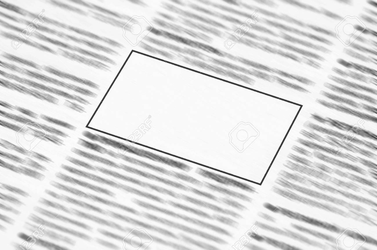 Newspaper with blank space for information Stock Photo - 8384074