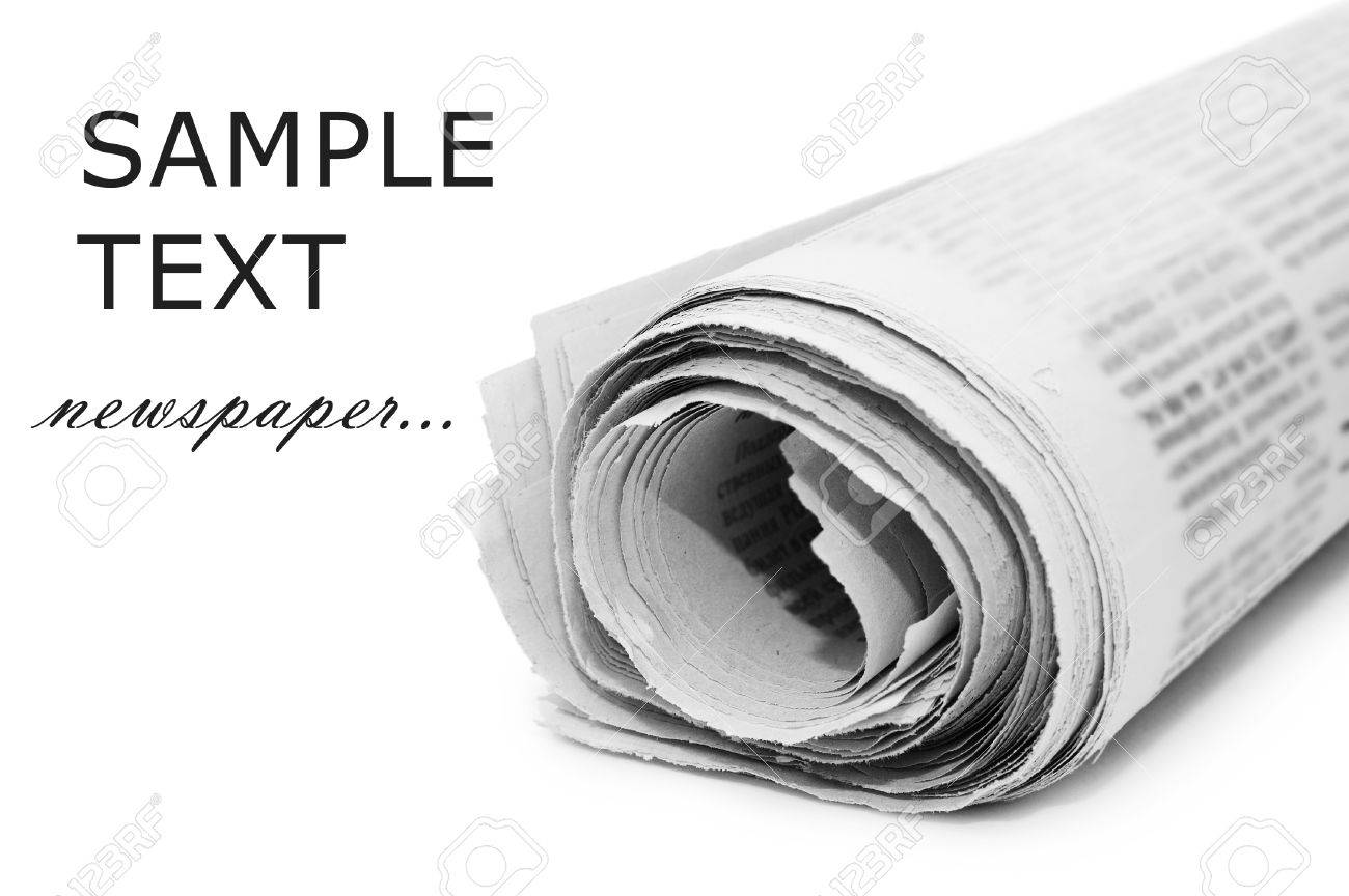 oll of newspapers, isolated on white background Stock Photo - 8430861