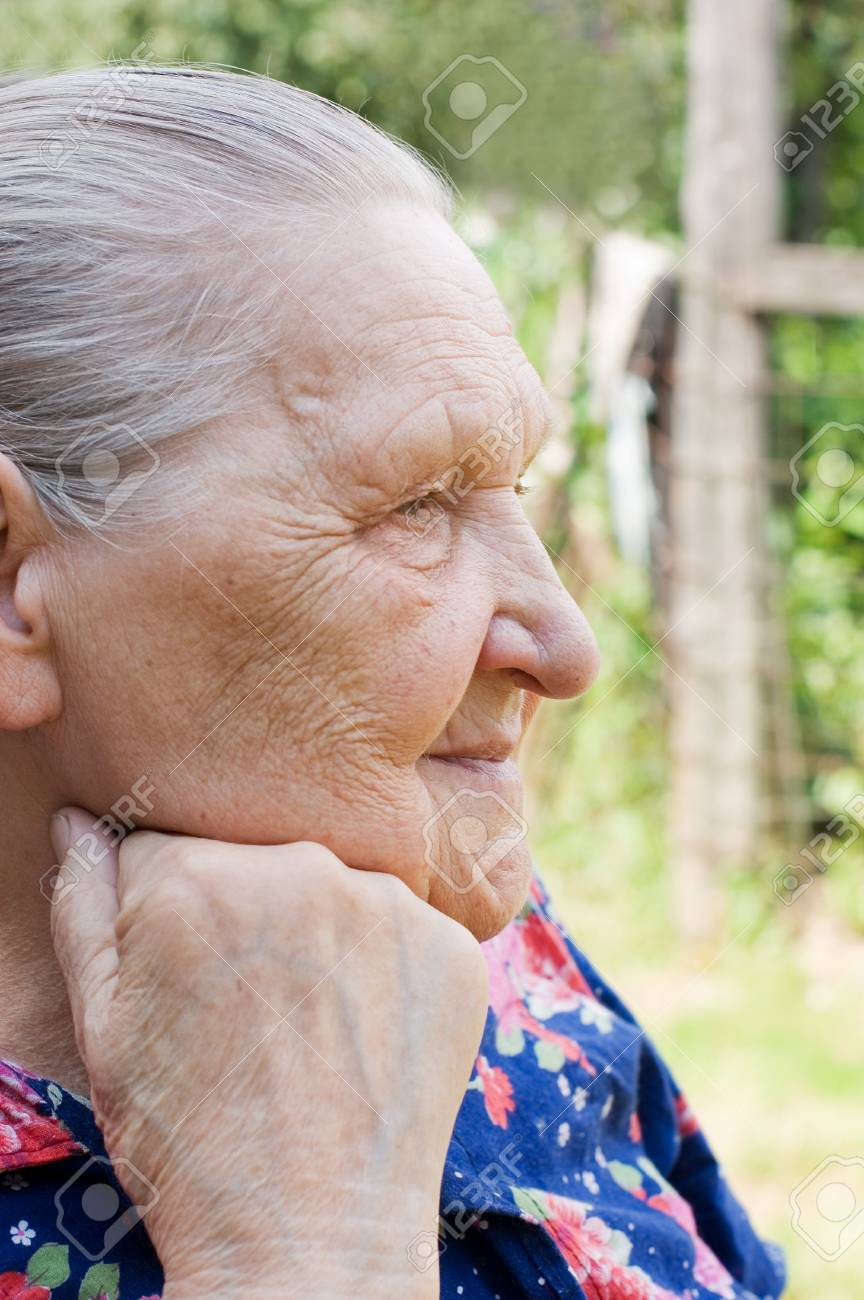 Portrait of the old woman Stock Photo - 8834610