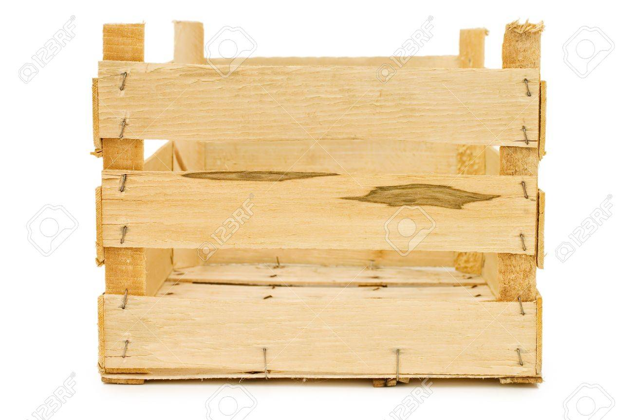 Wooden box isolated on a white background Stock Photo - 8930804