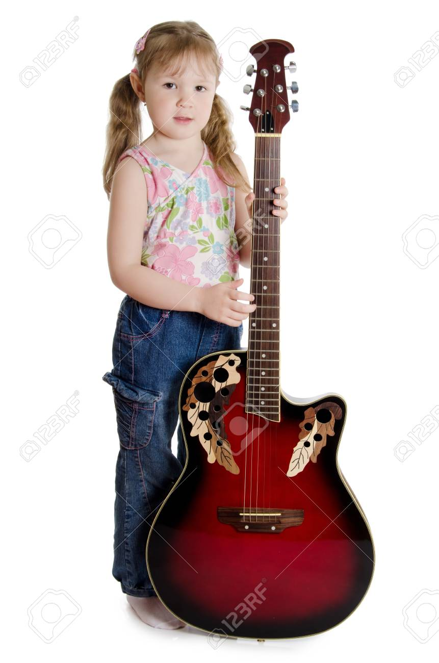 Little girl with an electric guitar Stock Photo - 9457967