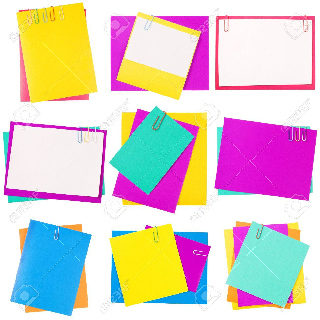 Colour paper with a paper clip Stock Photo - 9457918