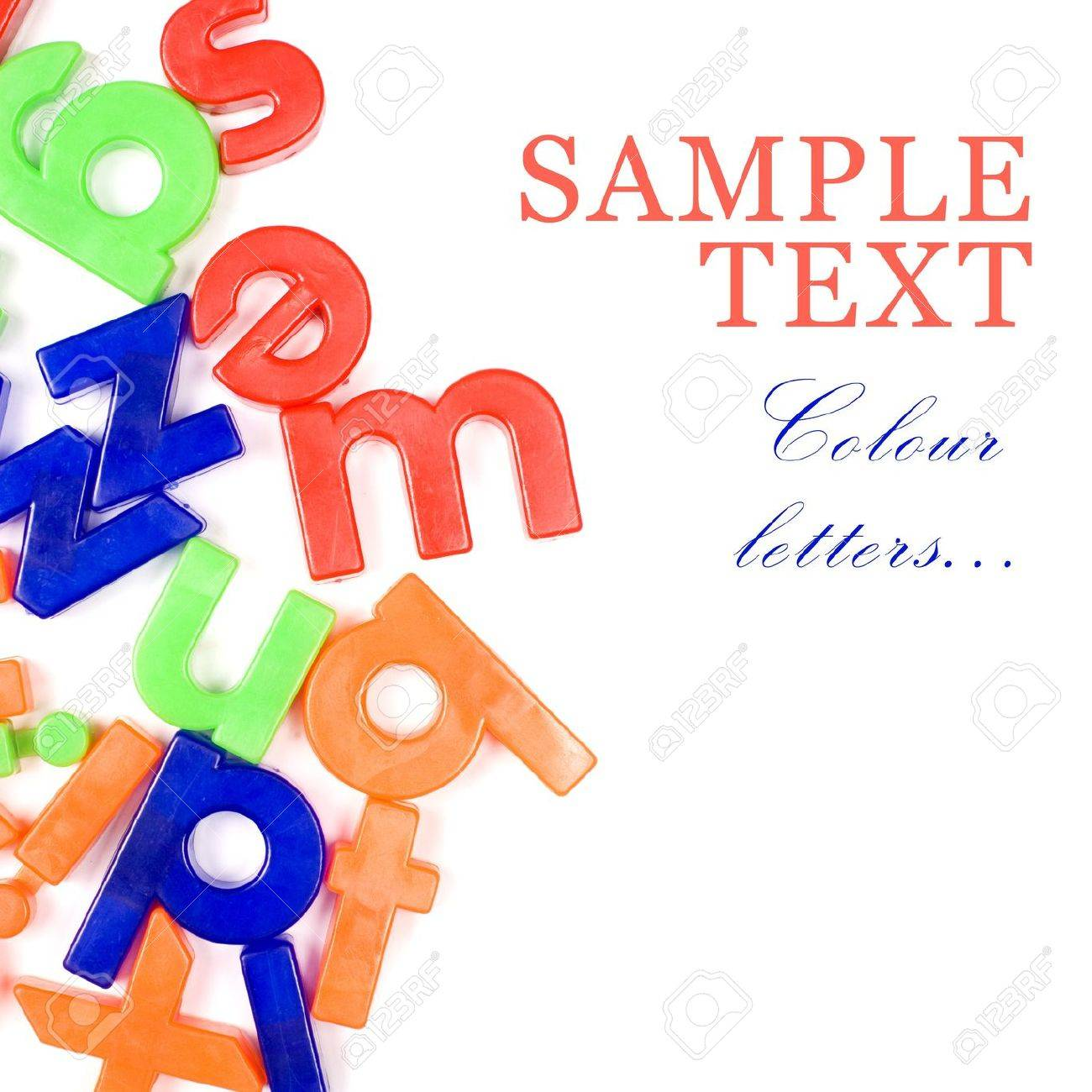 Plastic English Letters Isolated On White Stock Photo, Picture And ...