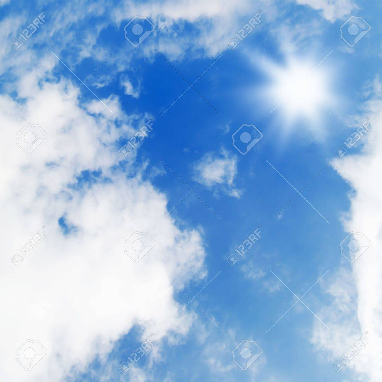 The beautiful blue sky with white clouds Stock Photo - 9921753