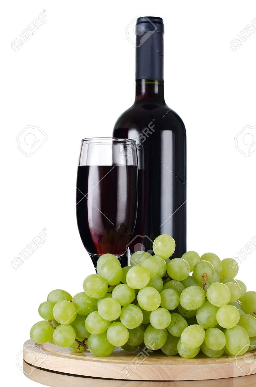 Red wine glass isolated on white background Stock Photo - 9922135