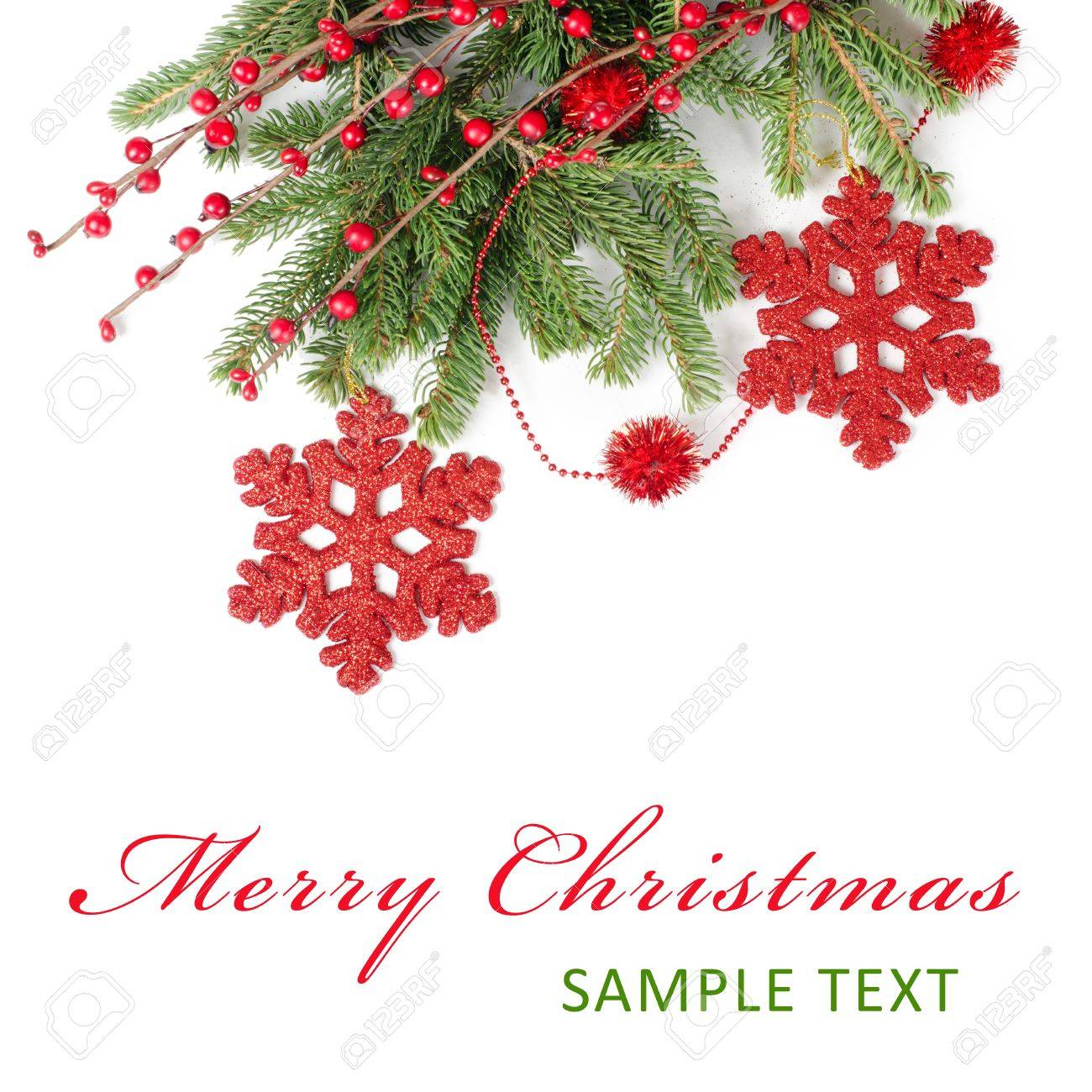 stock photo the christmas and new year border isolated
