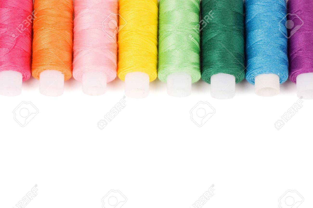Coil of threads isolated on white background Stock Photo - 11547724
