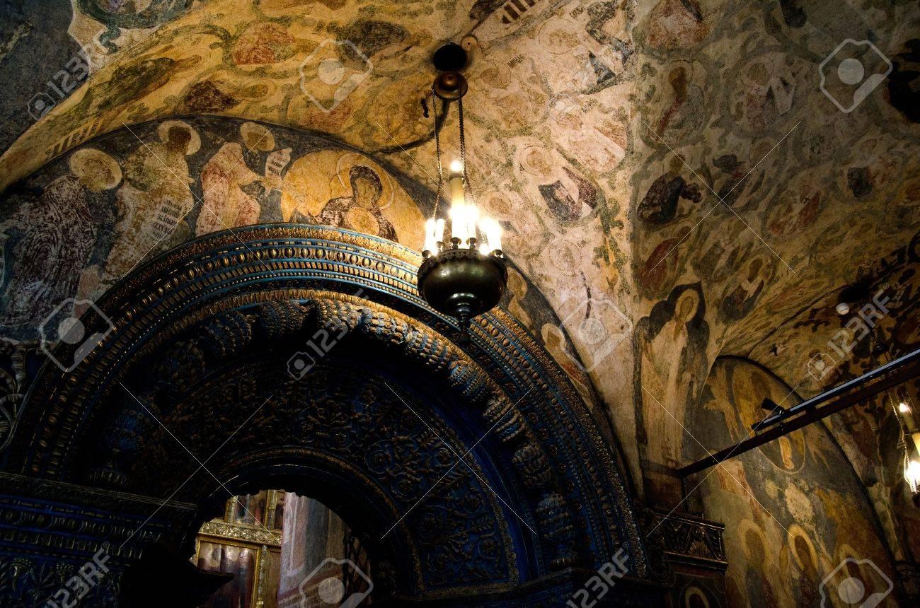 Interior of orthodox church at Moscow Kremlin Stock Photo - 11707609
