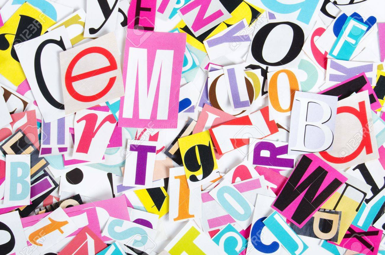 Letters which have been cut out from newspapers close up Stock Photo - 12458089
