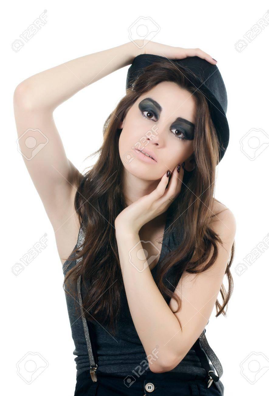 Banque d\u0027images , Portrait de la belle fille , style grunge