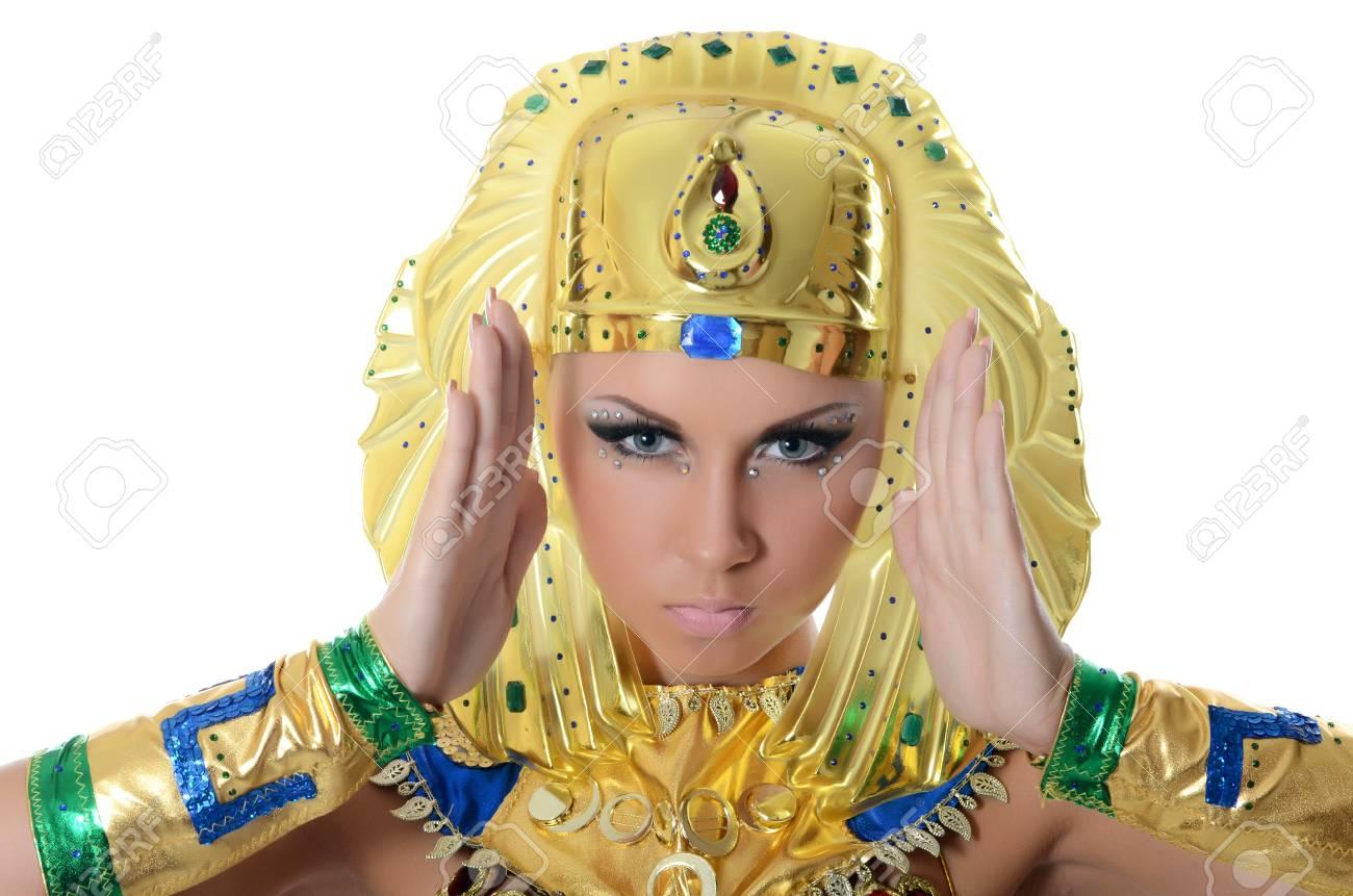 The girl-dancer in costume of the Pharaoh Stock Photo - 16036900