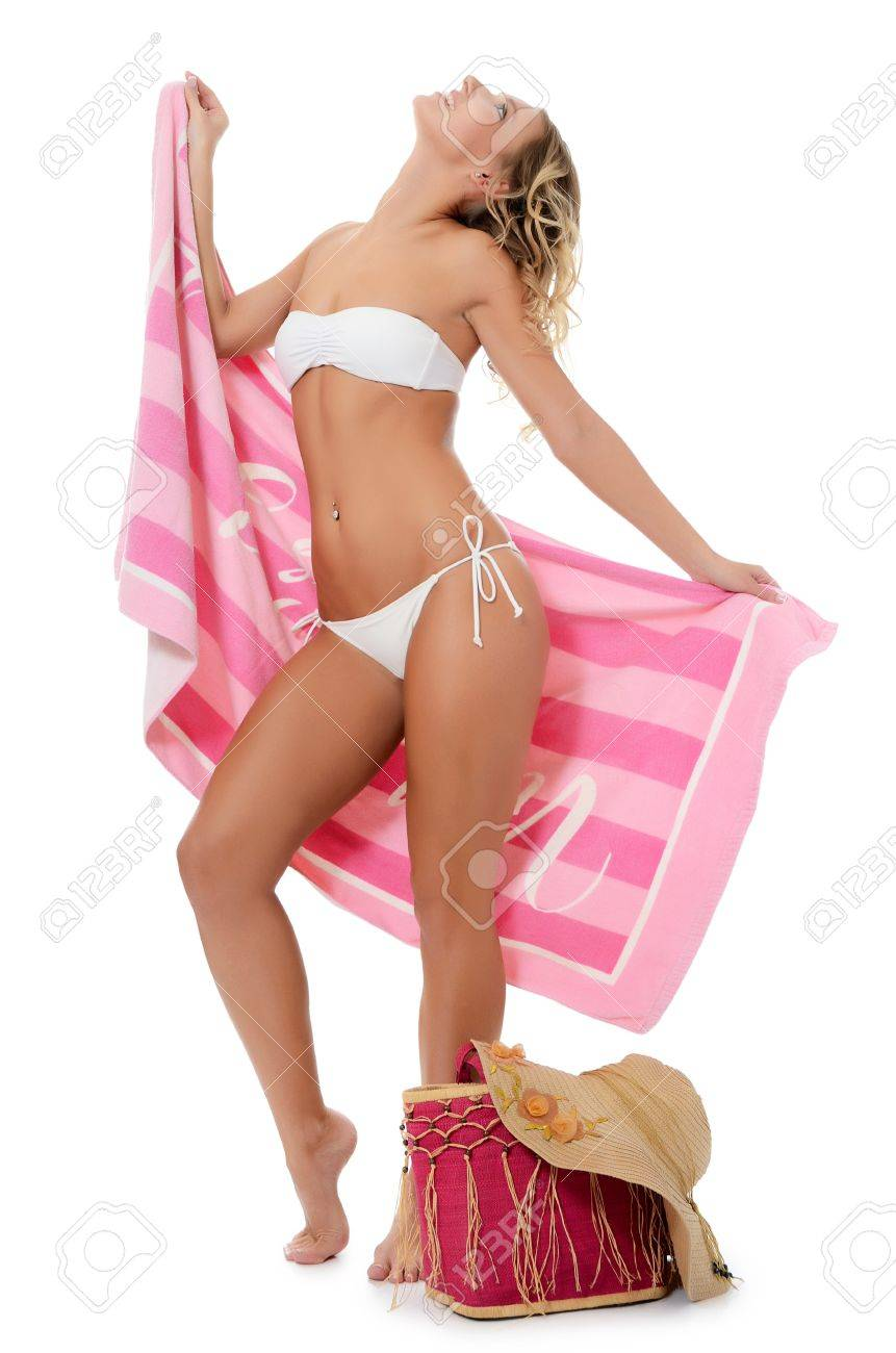 Portrait of the girl in beach hat Stock Photo - 16243753