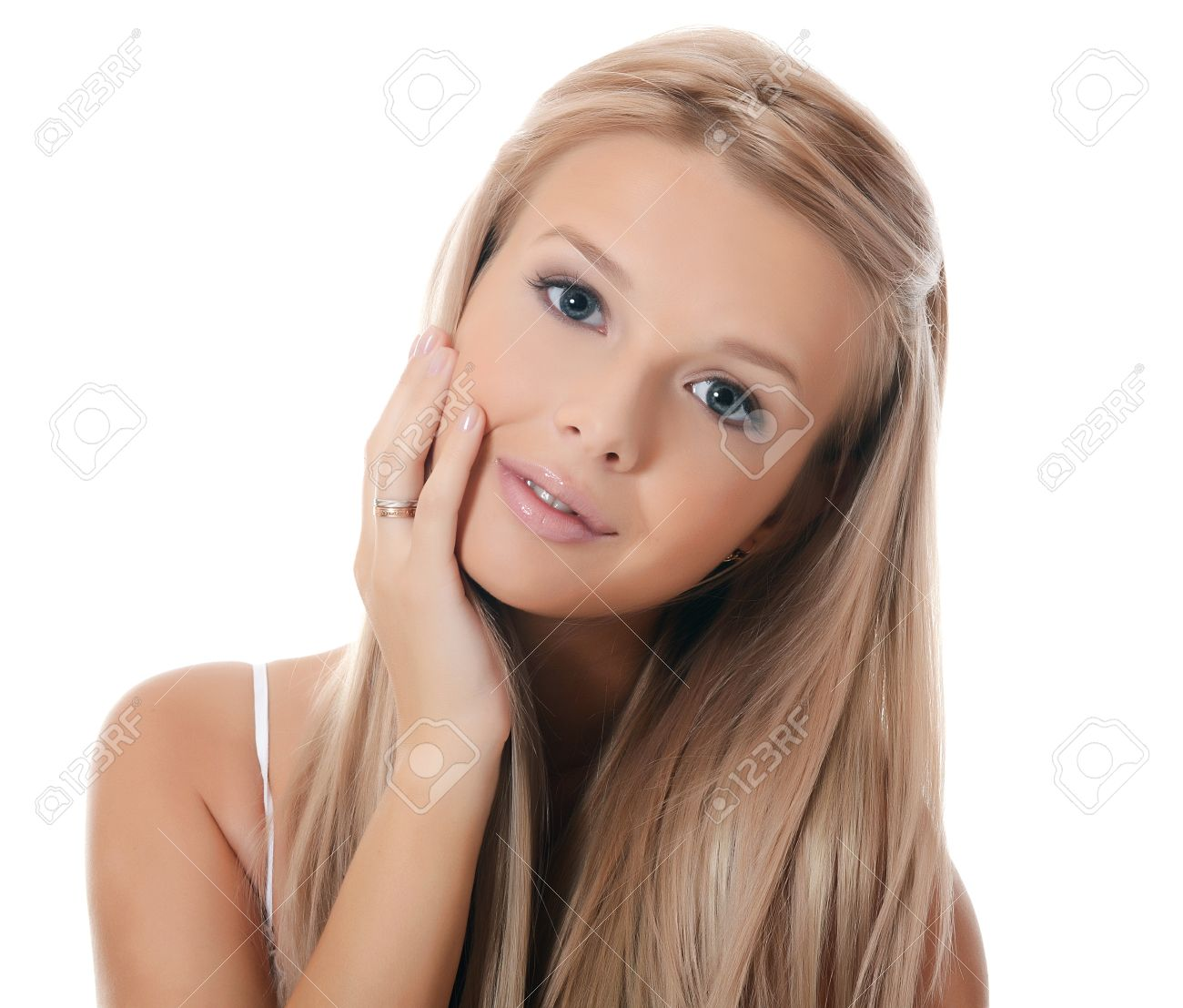 The young sensual girl with beautiful hair Stock Photo - 16751721