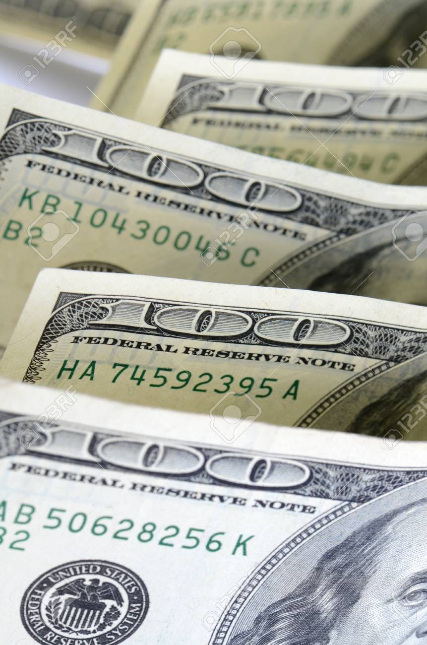 Dollar banknotes, business money as a background Stock Photo - 17688261