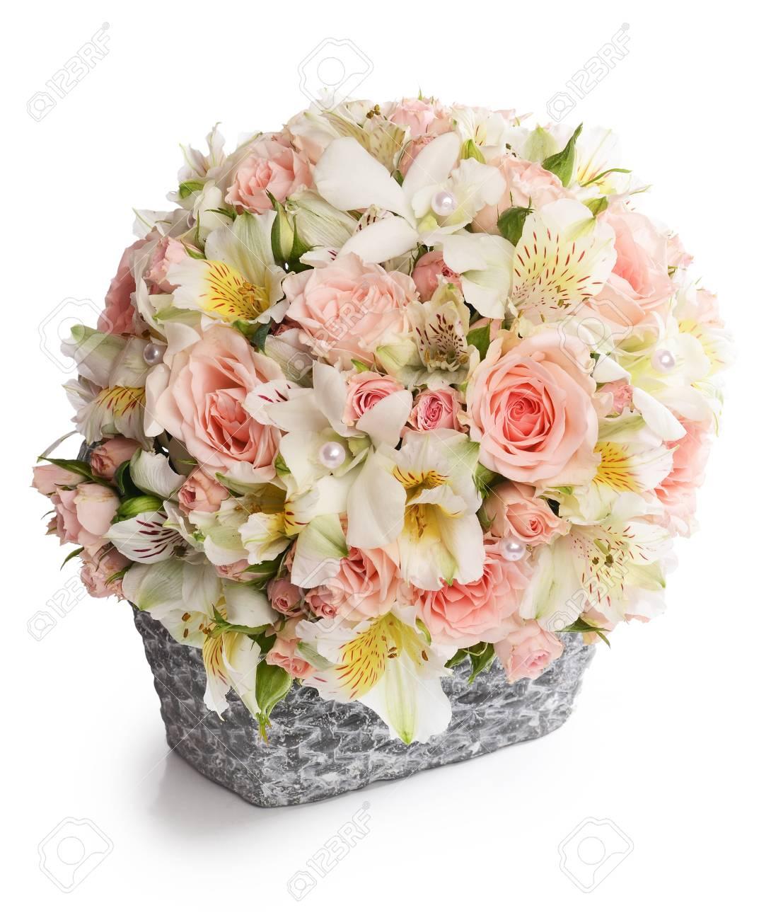Bouquet of beautiful flowers in a basket stock photo picture and bouquet of beautiful flowers in a basket stock photo 22064875 izmirmasajfo