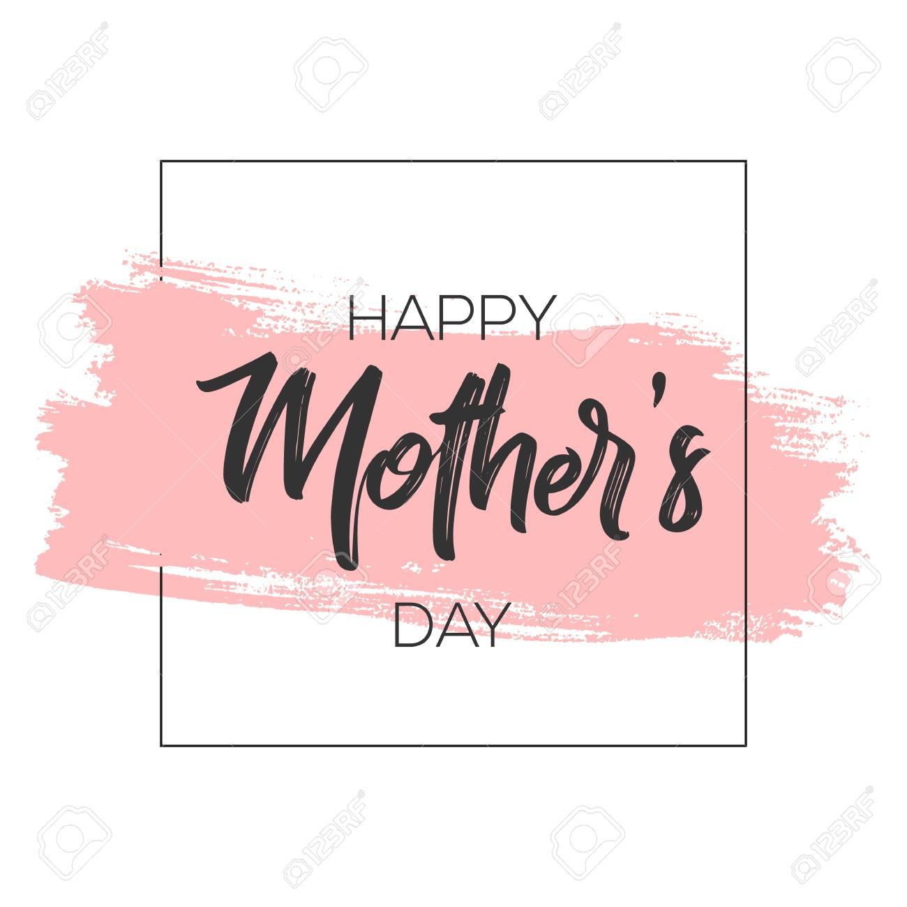 Mütter Tag Grußkarte Pinsel Farbe Hintergrund. Lizenzfrei Nutzbare ...