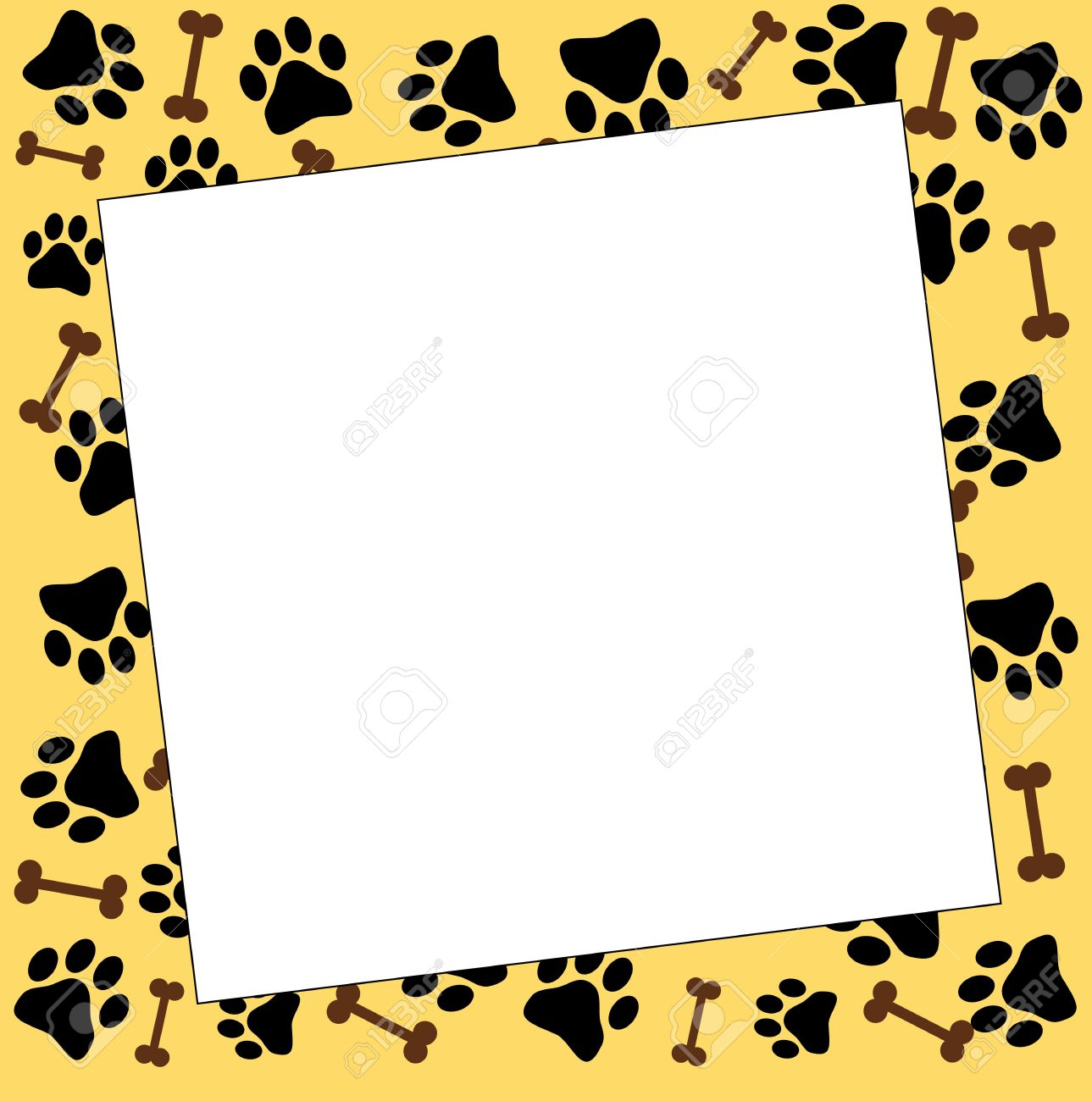 Frame With Paw Prints Stock Photo, Picture And Royalty Free Image ...