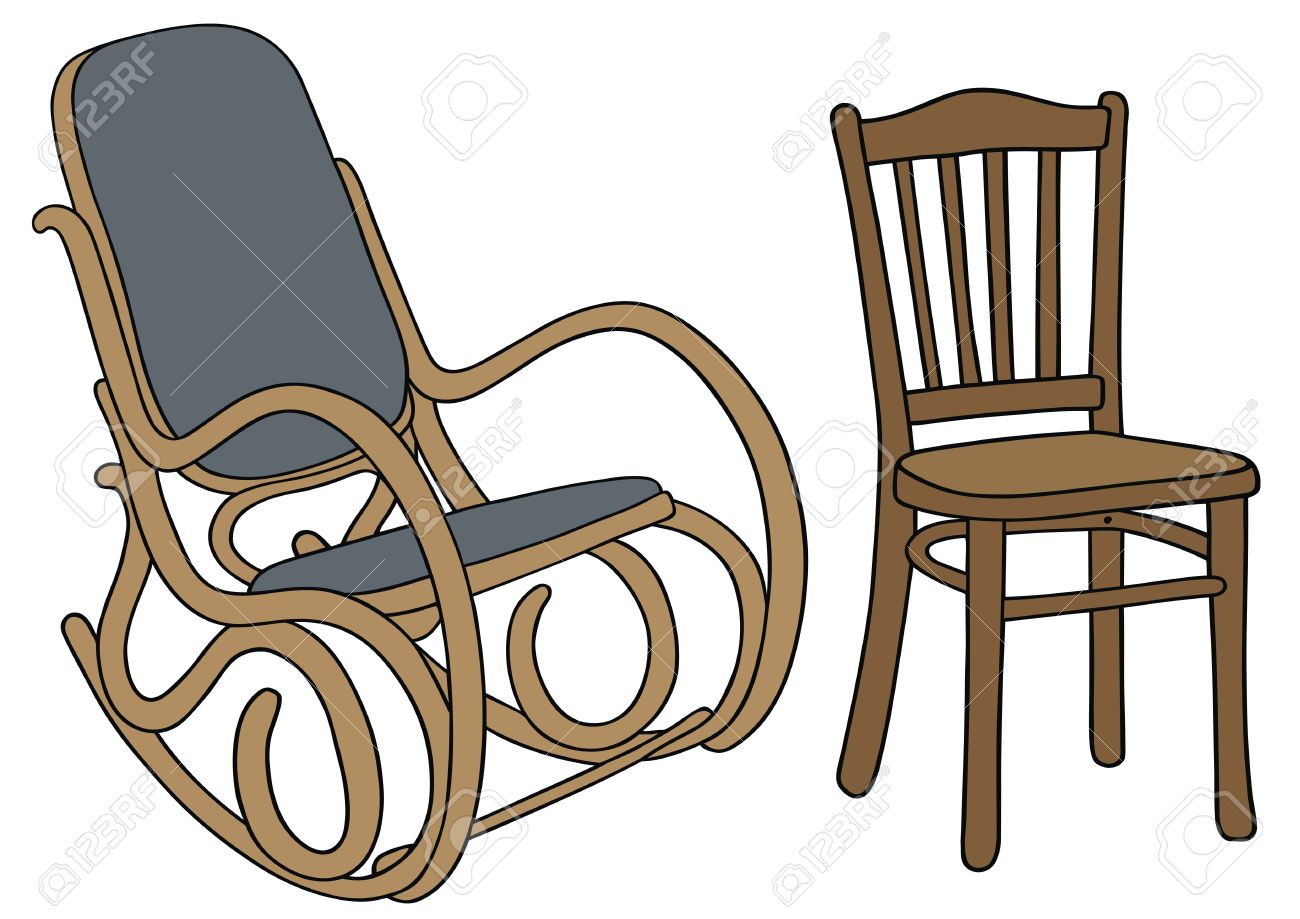 Hand Drawing Of Classic Wooden Chairs Royalty Free Cliparts