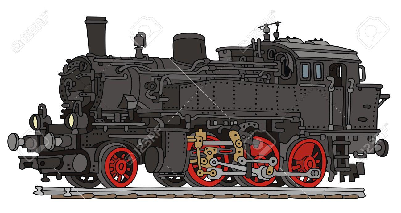 Dessin A La Main De La Vieille Locomotive A Vapeur Clip Art Libres