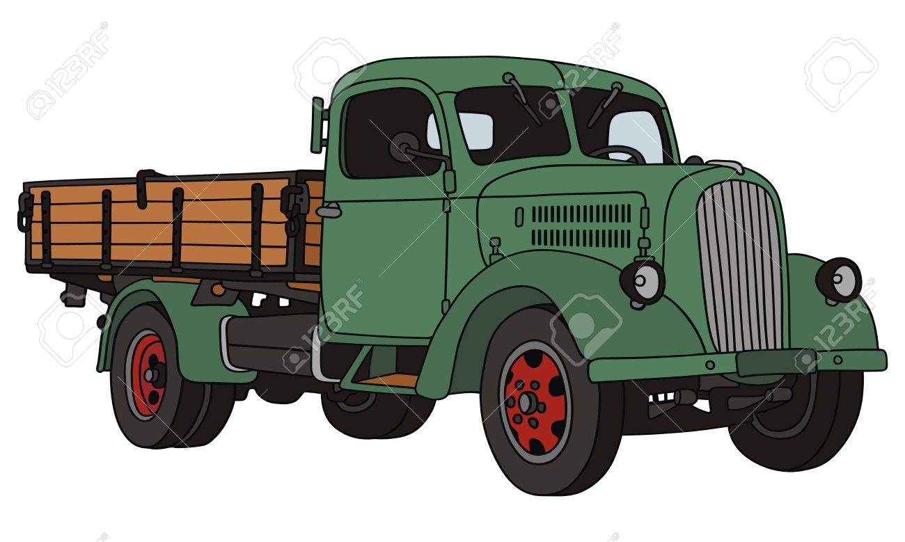 hand drawing of old truck Stock Vector - 23321704