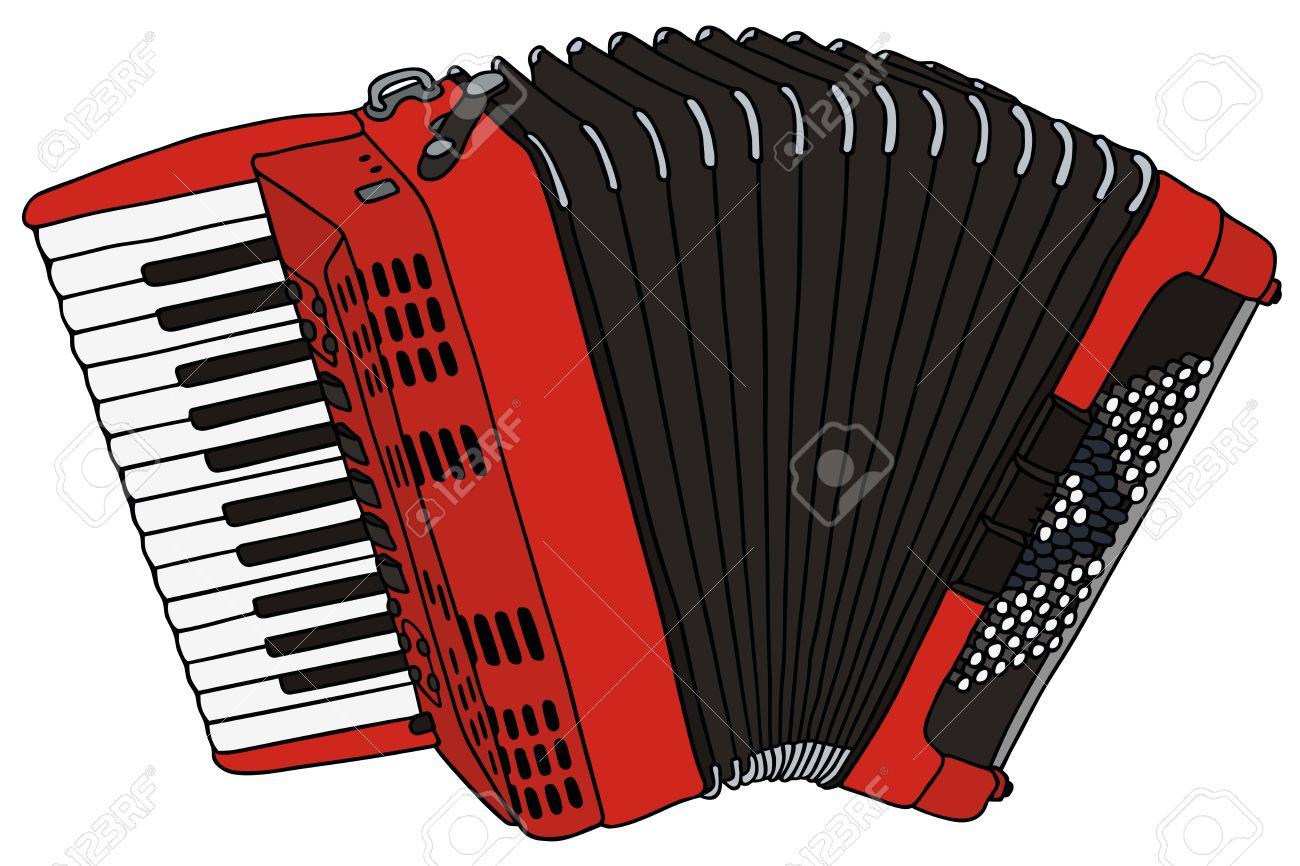 Dessin Accordéon dessin à la main d'un accordéon clip art libres de droits , vecteurs