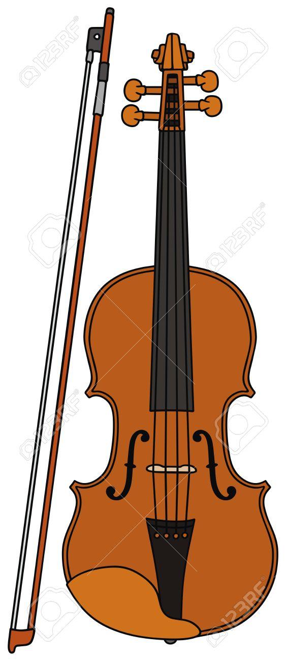 Dessin De Violon dessin à la main d'un violon clip art libres de droits , vecteurs et