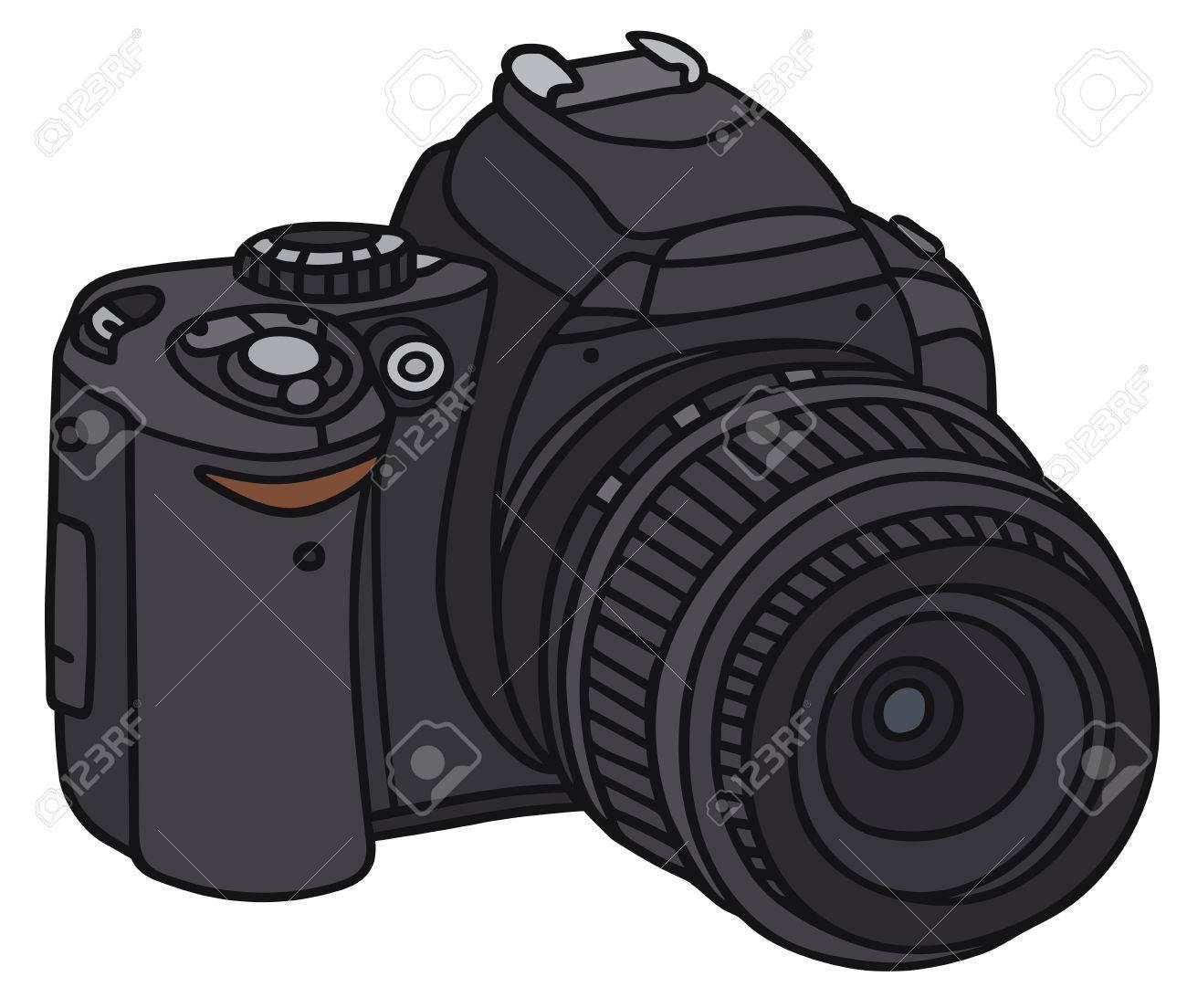 Dessin Appareil Photo dessin à la main d'un appareil photographique numérique - pas un