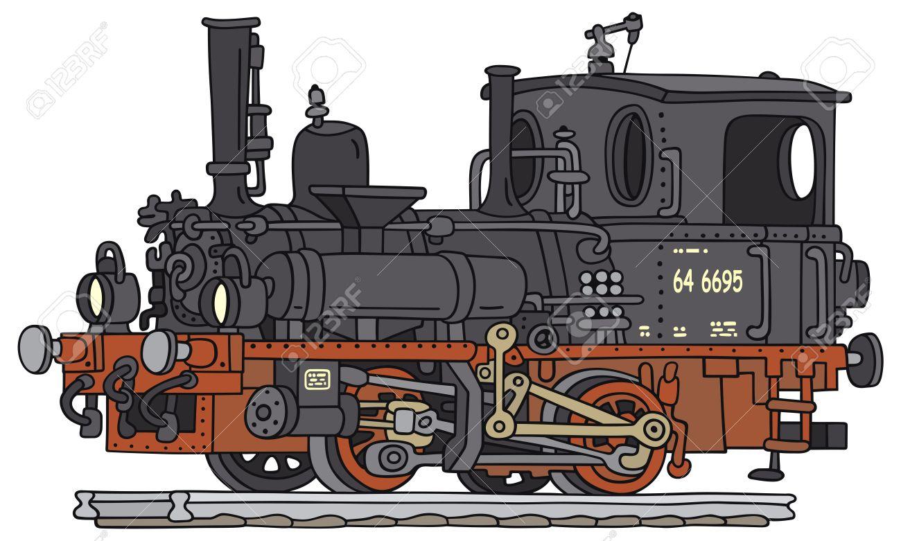 Dessin A La Main D Une Vieille Locomotive A Vapeur Clip Art Libres