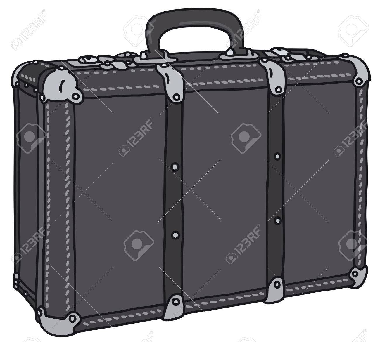 Hand Drawing Of An Old Leather Suitcase Royalty Free Cliparts ...