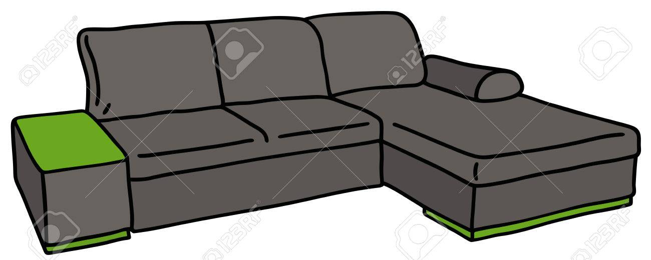 couch drawing. Hand Drawing Of A Black Couch Stock Vector - 41782088