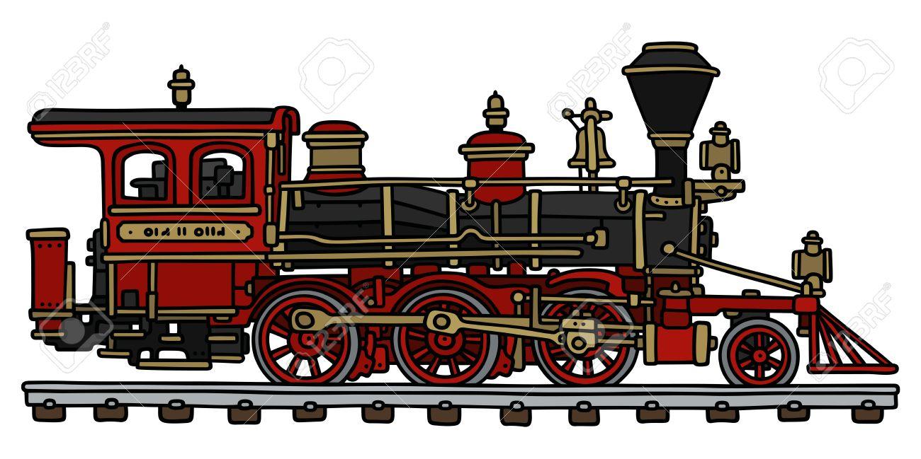 Dessin A La Main D Une Locomotive A Vapeur Classique Americain