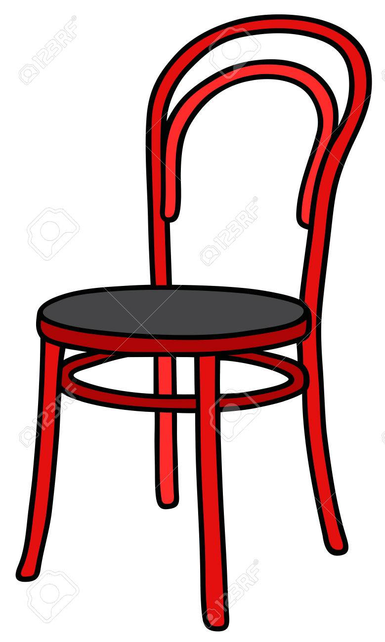 Hand Drawing Of A Classic Red Wooden Chair Royalty Free Cliparts