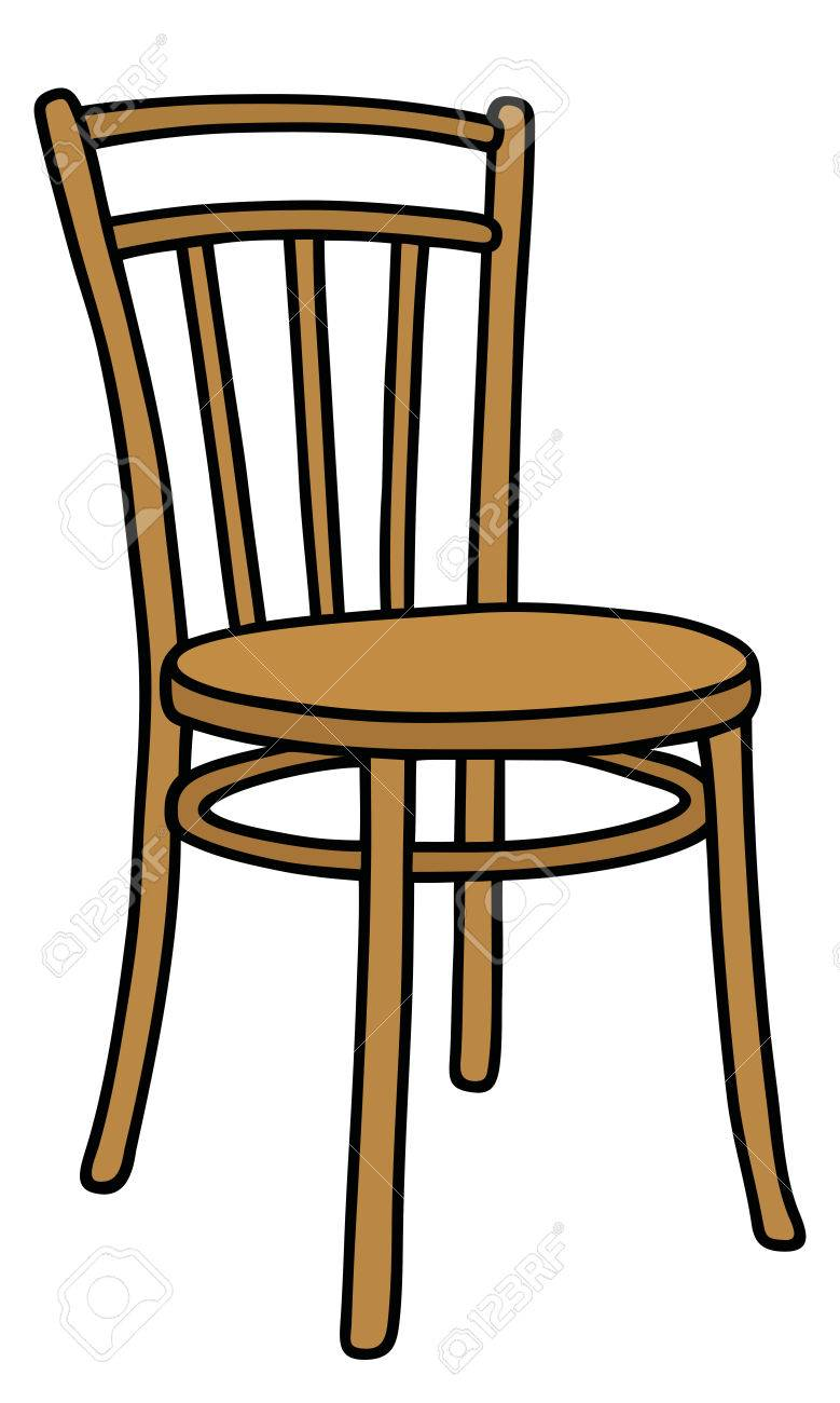 Hand Drawing Of A Classic Wooden Chair Stock Vector
