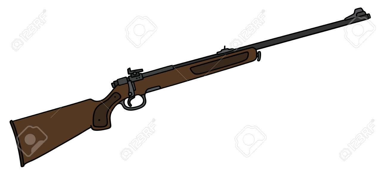 Dessin Fusil De Chasse dessin à la main d'un fusil de chasse classique clip art libres de