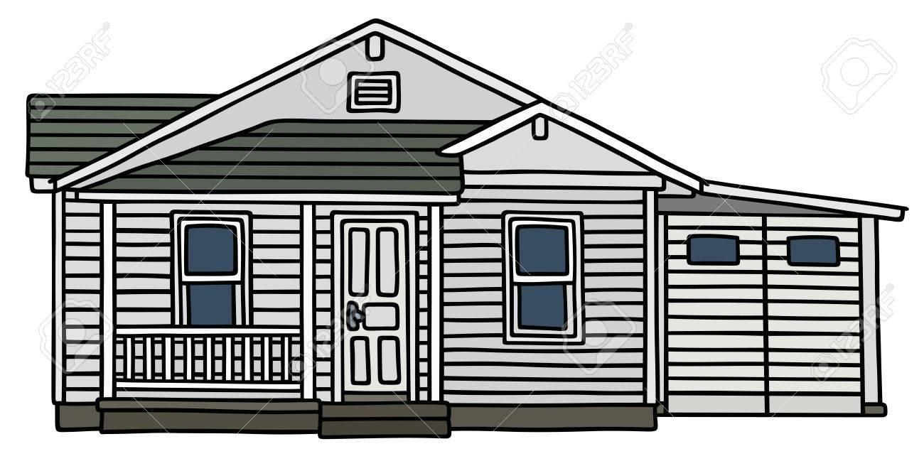 Dessin A La Main D Une Petite Maison En Bois Blanc Clip Art Libres