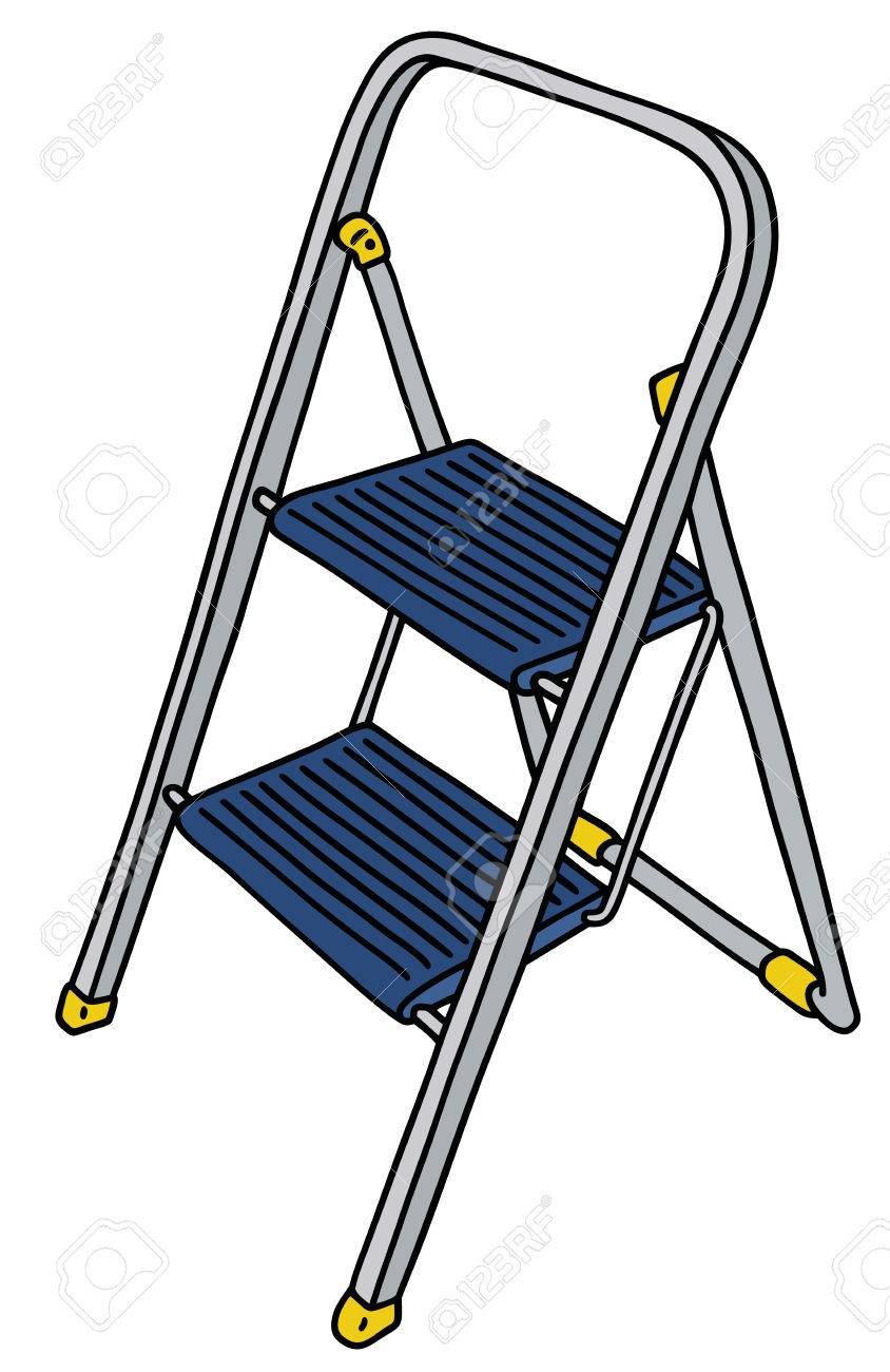 Kleine Trittleiter drawing of a small metal stepladder royalty free cliparts