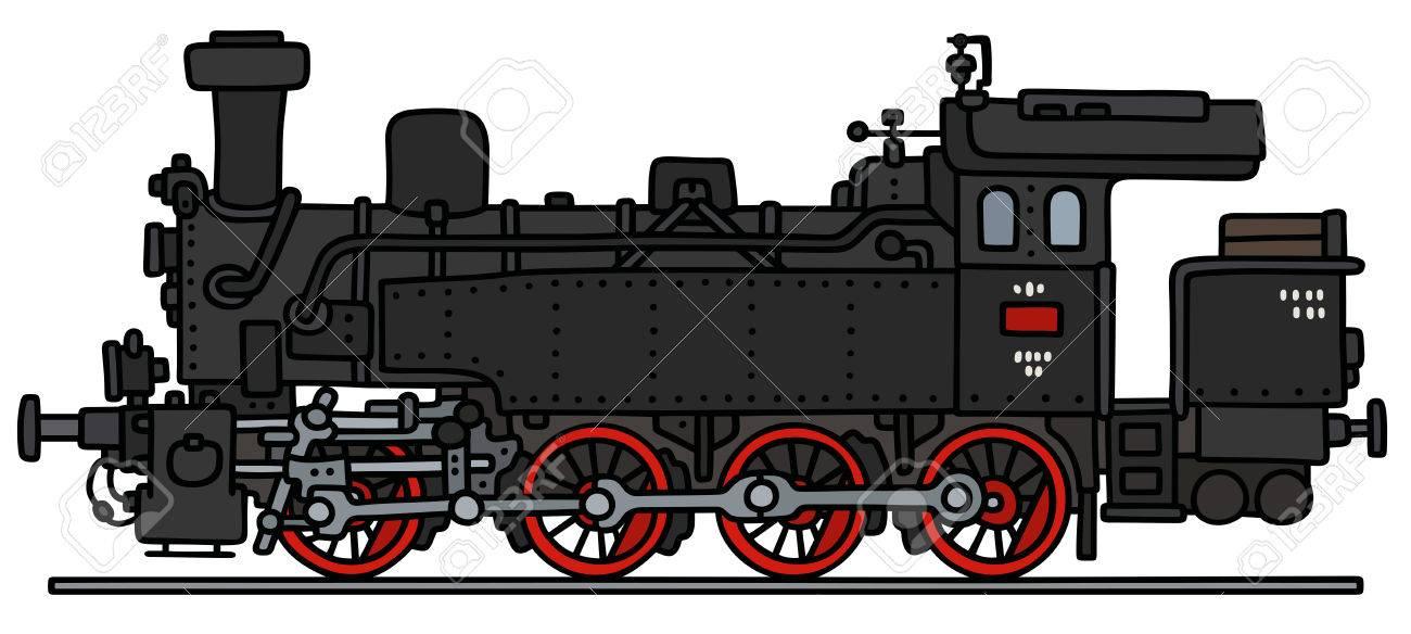 Dessin A La Main D Une Locomotive A Vapeur D Epoque Clip Art Libres De Droits Vecteurs Et Illustration Image 55727646
