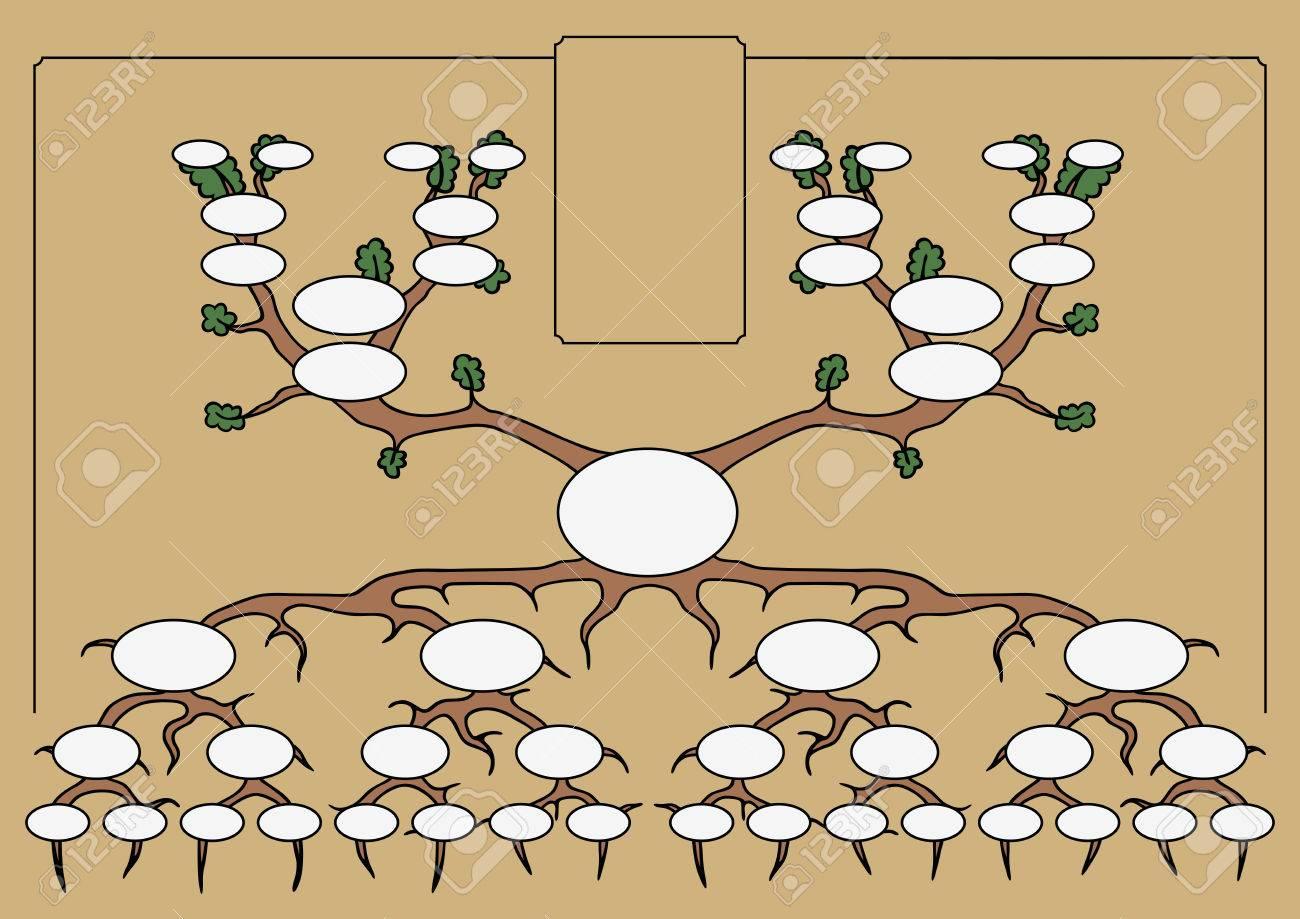 el árbol genealógico ilustraciones vectoriales clip art vectorizado