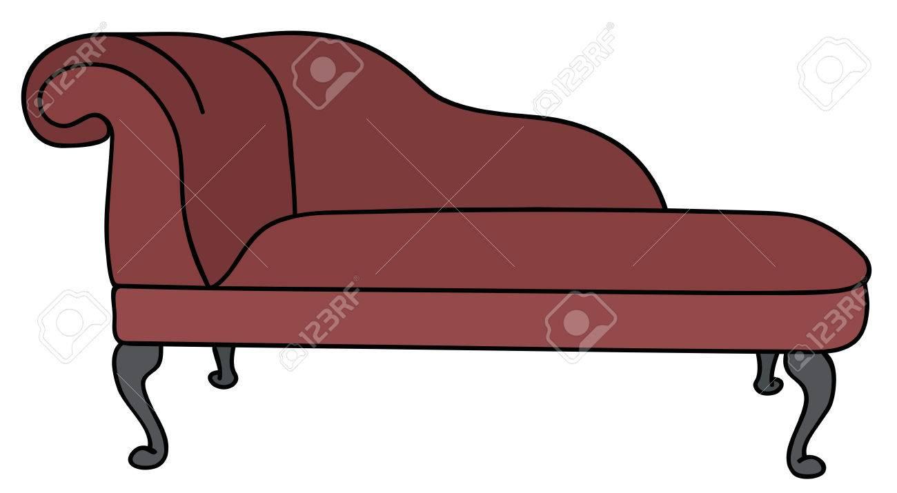 Historical dark red sofa