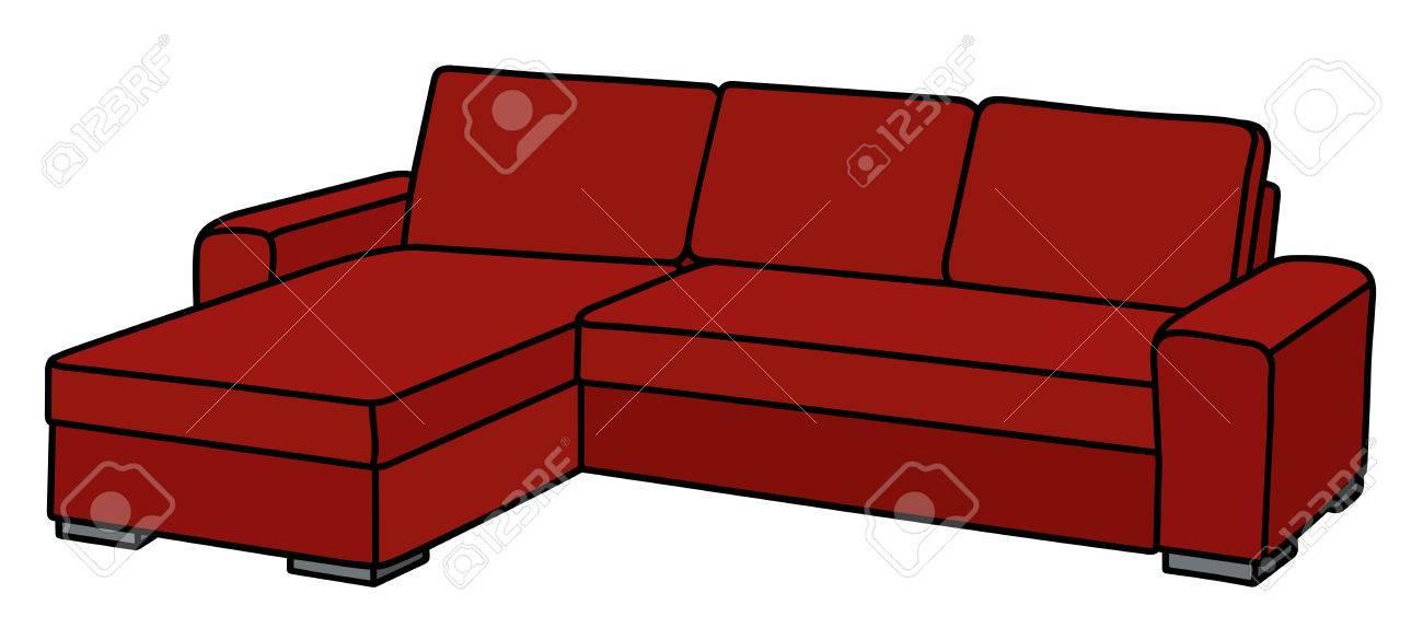 Große Rote Couch Lizenzfrei Nutzbare Vektorgrafiken Clip Arts