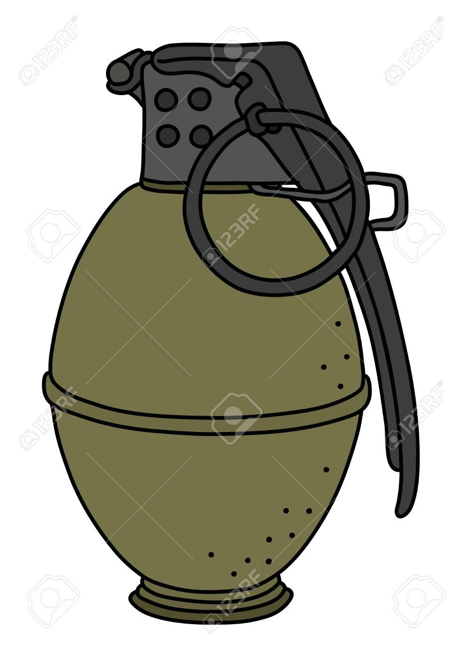 the old khaki offensive hand grenade illustration royalty free rh 123rf com