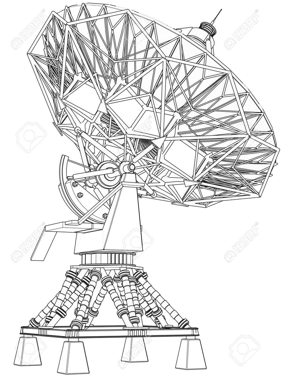 satellite dishes antenna doppler radar technical draw stock photo Satellite Dish Pond satellite dishes antenna doppler radar technical draw stock photo 2470825