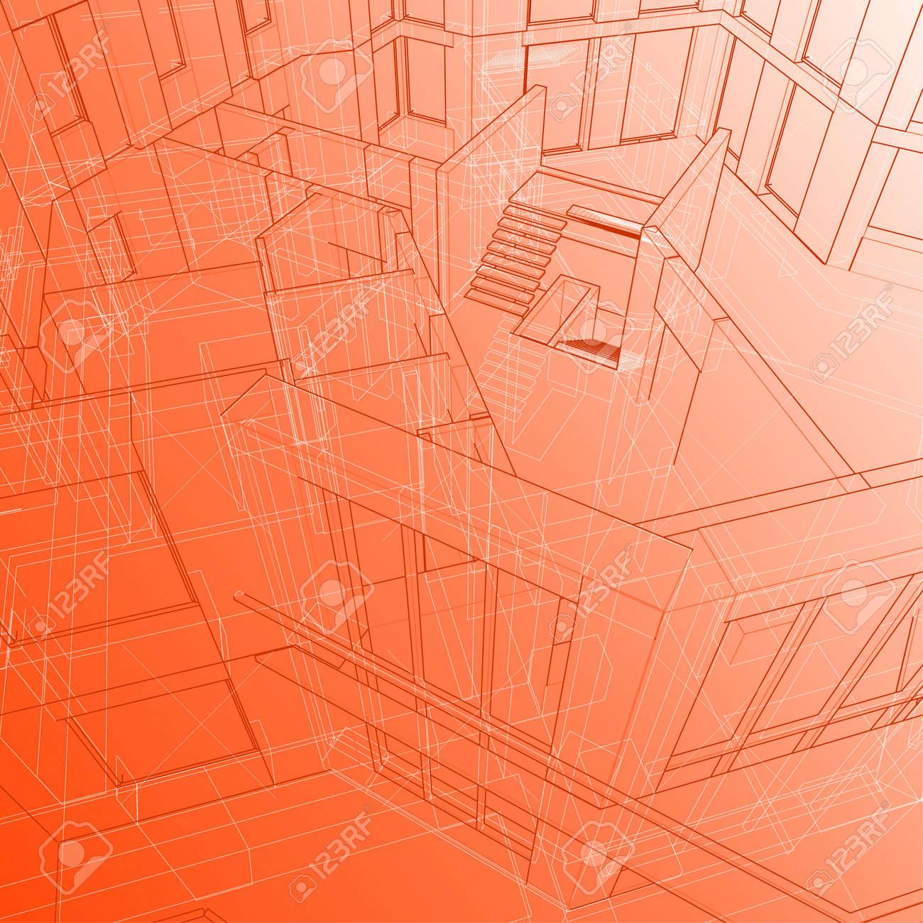 house: vector technical background Stock Vector - 2715286